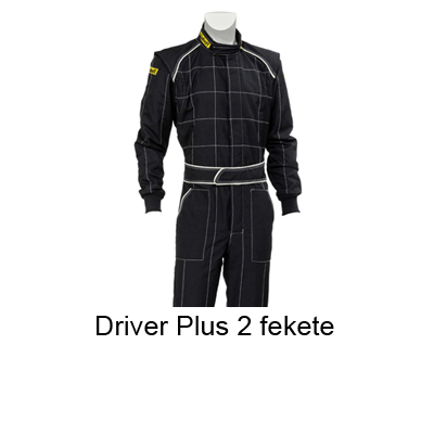Verseny overall, Driver Plus 2, fekete