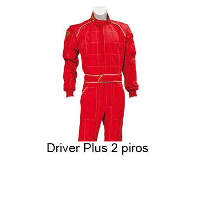 Verseny overall, Driver Plus 2, piros